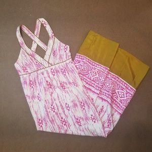 Ann Taylor Loft Silk Racerback Pink Maxi Dress 122